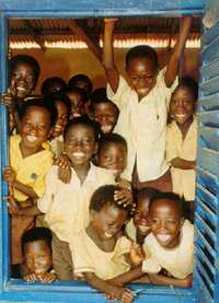 Window on wonder. Schools are more than just testing factories. These children in Ghana don't need telling.