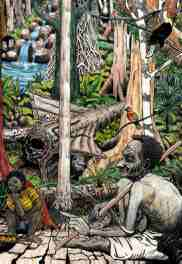 Jungle magic: illustration by Solomon Islands' artist Marcellin Maetarau.