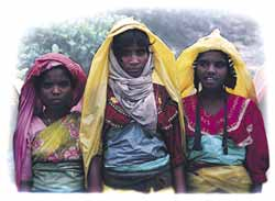 Tea for three – tribal women take a break.