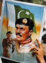 Two sides of a coin: General Zia (pictured) favoured dictatorship but Benazir Bhutto (above) squandered electors' goodwill.