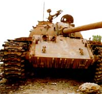 An old Soviet-supplied tank in Eritrea.