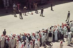 Cruelty as a spectator sport: a public flogging in Saudi Arabia.