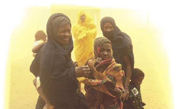 Staring into the storm: Mauritanian slaves are owned outright.