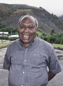 The head of the Papua Council, Tom Beanal.