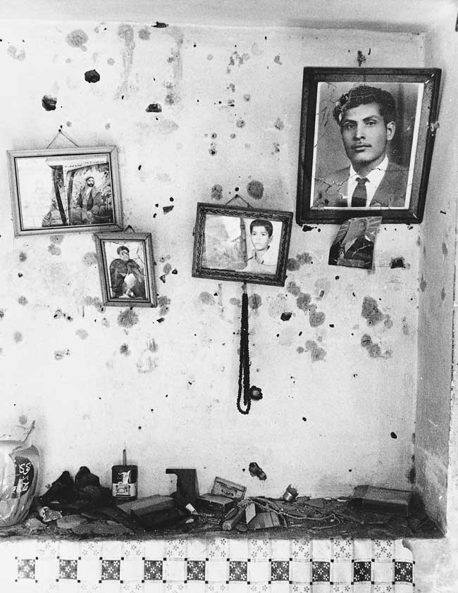 Iraqi soldiers even shot the photos on the walls in houses of southern Iran.
