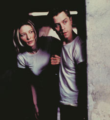 Pursued: Cate Blanchett and Giovanni Ribisi in Heaven.