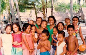 The children of Kiribati.