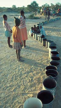 The long wait for clean water in drought-stricken Zimbabwe.