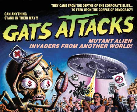 GATS ATTACKS: Mutant Alien Invaders From Another World!