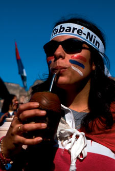 Check maté: herbal tea and the taste of electoral success in Montevideo.