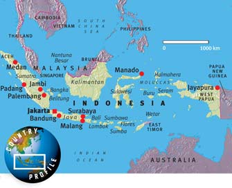 Map of Indonesia. Click to enlarge.