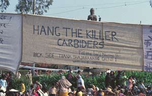 Anger with Union Carbide sweeps India.