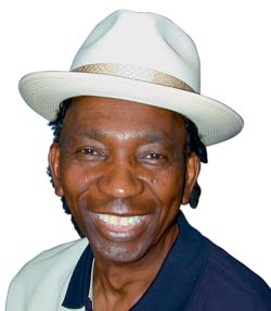 'You never know with these politicians, they do funny things sometimes.' Thomas Mapfumo before going on stage in Milton Keynes.