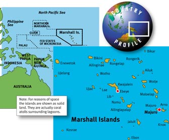Map of the Marshall Islands. Click to enlarge.