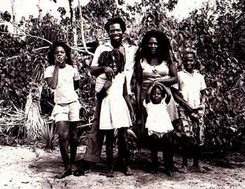 Williams and his family at Salt Marsh, Jamaica in 1972.