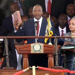 Kenyan elections: Kenyatta is sworn in as president after the 2013 elections.