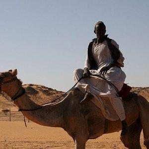 Nubian resistance: A Nubian man on a camel.