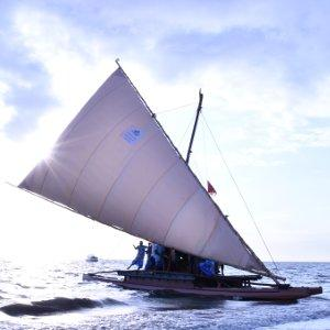 COP23 oceans: A sailboat in Fiji.