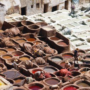 Tannery in Morocco, 2010. Photo: Mike Prince