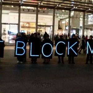 Democracy movement NYC Rolling Rebellion advocates for net neutrality in front of the Time Warner offices in New York City, US.
