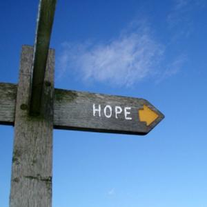 Sign pointing to the village of Hope, Derbyshire UK. Photo by: Flickr user pol sifter