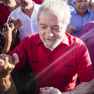 Former president Lula on his Caravan of Hope tour around Brazil, ahead of this year's elections.