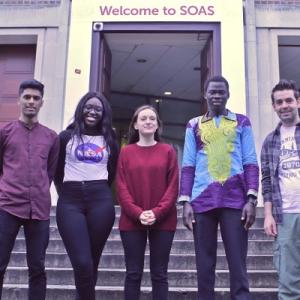Two recipients of sanctuary scholarships outside SOAS in London