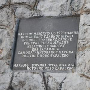 Bosnia's fragile peace: a plaque to war criminal Radko Mladić