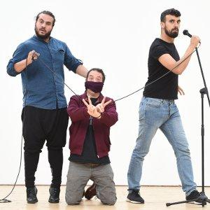 Showtime from the Frontline: Alaa Shehada, Mark Thomas and Faisal Abu Alhayja.