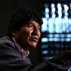Former Bolivian President Evo Morales gestures during an interview with Reuters, in Mexico City, Mexico November 15, 2019. REUTERS/Edgard Garrido
