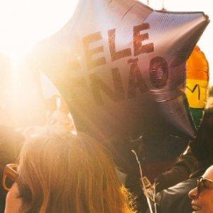 A 'Women United Against Bolsonaro' solidarity demonstration in London, 2018. Credit: Esdras Beleza/Flickr