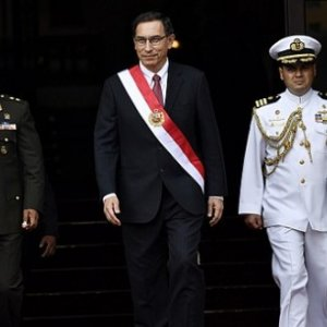 President of Peru Martín Vizcarra, prior to swearing in his cabinet in 2018. WikiCommons