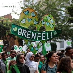 A march on the one year anniversary of the Grenfell Tower fire. The LRB's Andrew O'Hagan can't rewrite the Grenfell narrative, argues rapper Potent Whisper.