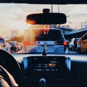 In a jam, sitting in traffic in Metro Manila, the Philippines. Jolene Torres/Unsplash