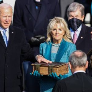 Joe Biden becomes the 46th president of the United Statesduring the Inauguration Day ceremony held at the U.S. Capitol Building in Washington, D.C. on Jan. 20, 2021. Credit: Oliver Contreras/Sipa USA