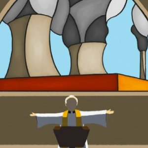 Why do churches still have £18 million invested in fossil fuels? Illustration by Andy Carter