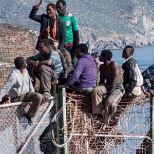 As Spain becomes the busiest staging post on the migrant Mediterranean route, Julian Hattem speaks to the African migrants in its North African enclaves.