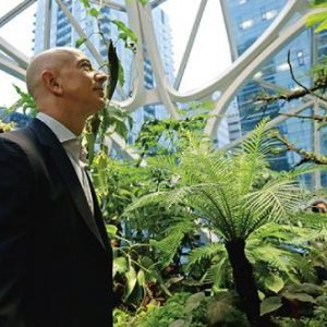 Amazon for the Amazon? Founder Jeff Bezos at his firm's HQ in Seattle. TED S WARREN/AP
