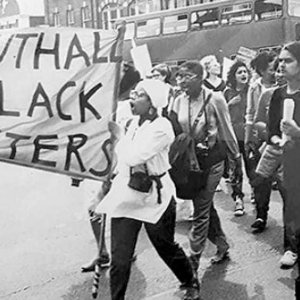 This is 1984, the first women's march in Southall to protestagainst violence against women, particularly one woman – Krishna Sharma, who had taken her life after facing violence from her husband and in-laws. The protesters' slogan was: 'They call it suicide, we call it murder' and they demonstrated outside the family's house, a tactic borrowed from the Indian women's movement.Credit: SBS