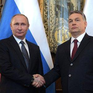The leaders of Russia and Hungary, Vladimir Putin and Viktor Orbán