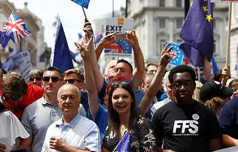 More than 100,000 protesters are set to march on Parliament on Saturday to demand a People's Vote on the final Brexit deal.