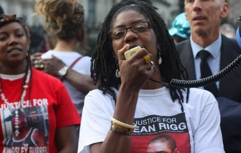 Marcia Riggspeaks at the annual UFFC rally in 2015. Photo: Panther Manchanda