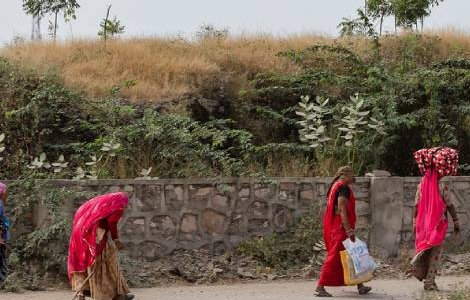 Rajasthan, India On the way to Pushkar  Women in the countryside