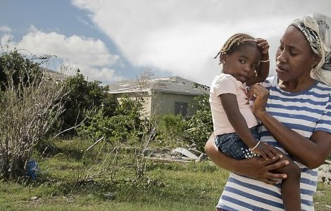 Fifi, with her daughter Mia, bemoans the slow pace of construction. Photos: Tamzin Forster