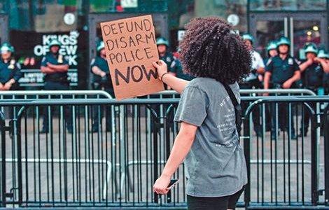 Defiantly demanding change in Brooklyn, New York. SAANYA ALI/MAJORITY WORLD