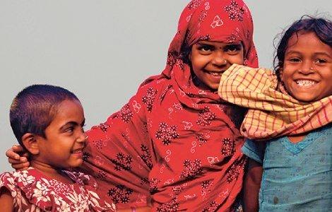 Children at Dhal Char in Bhola. MAJORITY WORLD/CHANDAN ROBERT