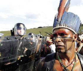 Indigenous people, set to be robbed of their land rights, took their protest to Brasilia – to be rebuffed by armed forces.