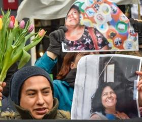 Environmentalists killings: Indigenous and other activists gather in front of the Honduran embassy in London in response to the murder of anti-dam campaigner Berta Cáceres in 2016.