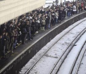 Passengers at Clapham Junction, south London. According to a 2017 Legatum Institute poll 76 per cent of British passengers want the railways in public ownership.