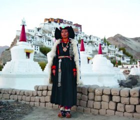 Looking the very picture of a traditional way of life, mathematics teacher Phunchok Angmo, photographed at Thiksey monastery, near Leh, Ladakh, is observing startling changes in her pupils. 'The children here no longer care about the culture and they spend less time taling to eachother,' she says. 'They spend their free time on laptops.'